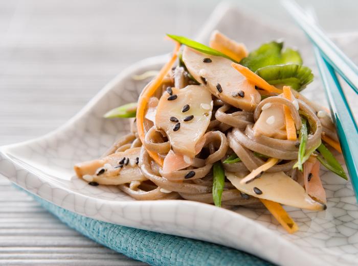 noodle salad abalone dish