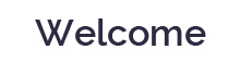 welcome text image